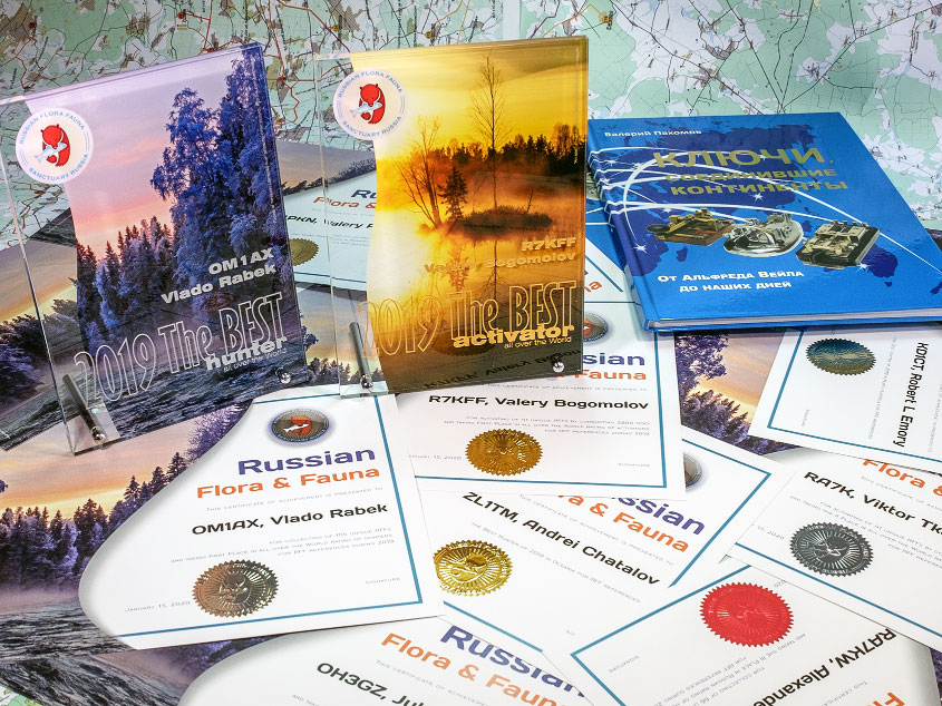 Prizes and remembrance certificates of the RFF Rating 2019